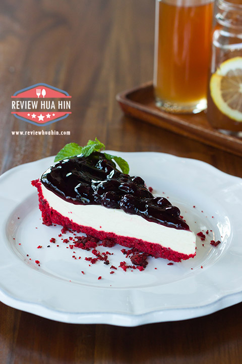 Red Velvet Blueberry Cheese Pie