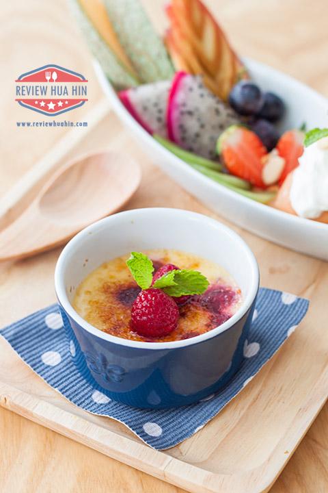 Crème Brûlée ราสเบอรี่น้ำผึ้ง